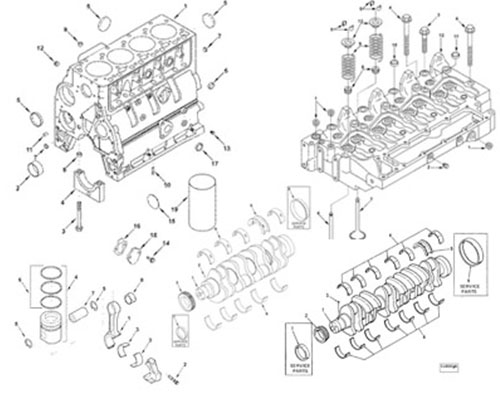 Cummins 4BT engine parts Catalo